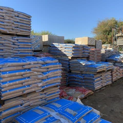 Bags of aggregates & soils