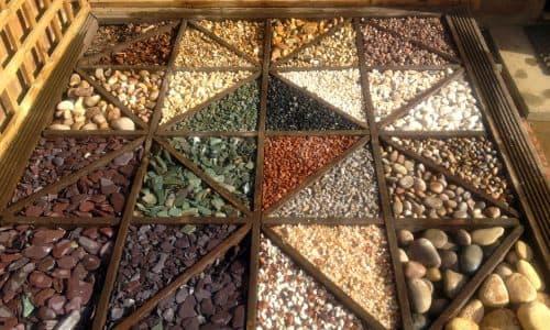 Variety of decorative stones