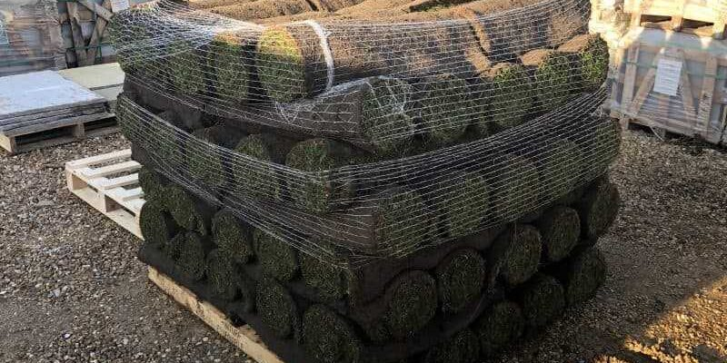 turf rolled ready to lay